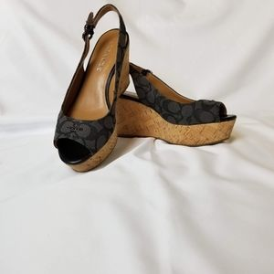 COACH FERRY platform shoes size 6